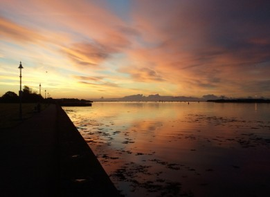 Dublin Bay from Clontarf at 7am this morning.