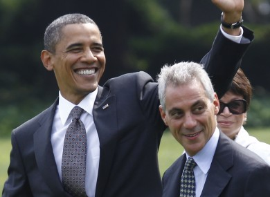 Emanuel (right) has been the White House Chief of Staff since Barack Obama took office in January 2009.