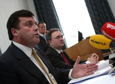 Brian Lenihan left with NAMA chief Brendan McDonagh
