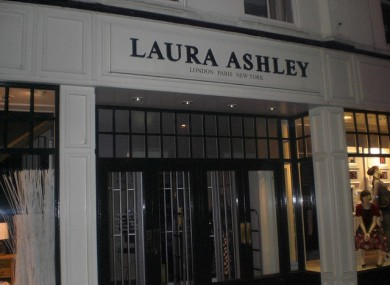 The Laura Ashley shopfront.