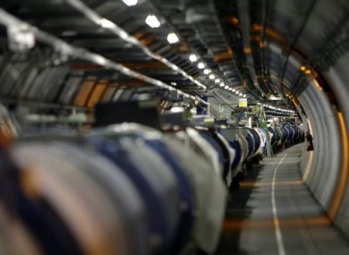 File photo of the LHC in its tunnel at CERN.