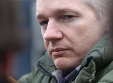 Founder of the WikiLeaks website, Julian Assange, speaks during a press conference in London, Saturday, Oct. 23, 2010