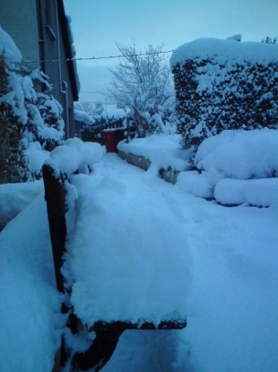 Snow in Letterkenny, Co Donegal.