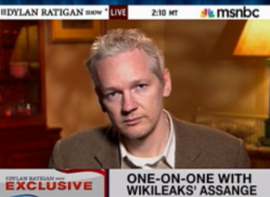 Julian Assange appeared on BBC's Newsnight last night, coffee cup in hand.