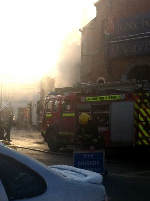Five units of Athlone Fire Brigade attended the scene of yesterday's explosion.