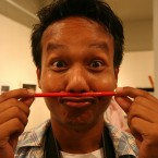 Missing your pencil moustache? You can still have one. Made of a REAL pencil, see.<span class=