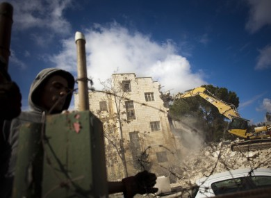 Israeli bulldozers demolish the Sheperd Hotel in East Jerusalem earlier this month. Palestinian negotiators offered control of East Jerusalem in 2008 and 2009, according to new leaked reports.