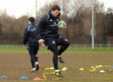 Brian O'Driscoll at Leinster squad training in Donnybrook this week.
