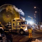 A convoy of six gigantic beer vats ends its 10-day journey from Hamilton to the Molson Brewery in Toronto early Monday morning after a 10-day drive across Canada.