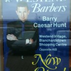 Barry Caesar Hunt gives the barber shop business his stamp of approval.