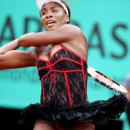 Williams drew whistles when she appeared on the court in Paris in last May in a lacy, red-trimmed, black can-can outfit. She had come straight from a lock-in at the Moulin Rouge.