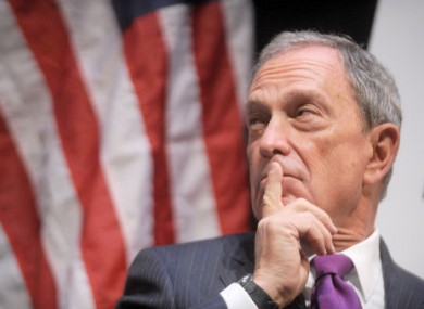Michael Bloomberg... Thinking before he speaks?
