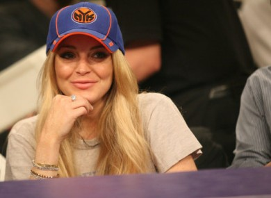 Lohan attends a basketball game in LA on 9 January, 2011.