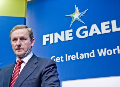 Enda Kenny will launch Fine Gael's manifesto