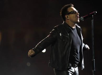 Bono performs in Johannesburg last night