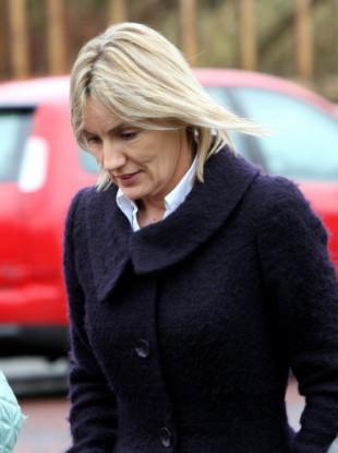 Hazel Stewart, 47, arrives at Coleraine Crown Court yesterday.