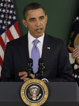 Barack Obama announcing his budget on Monday