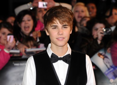Justin Bieber, pictured at the London premiere of his new film 'Never Say Never' last night.