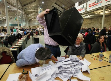 Counting begins at the RDS earlier today