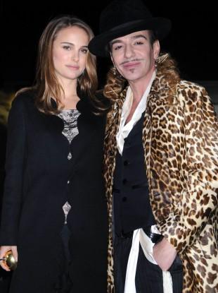 Natalie Portman and John Galliano