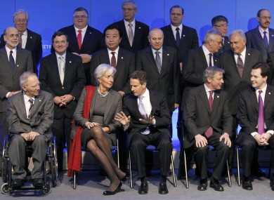 Finance ministers at last month's G20 summit: it has emerged that the French finance ministry's computers were attacked in December, with documents on the summit being sent to Chinese addresses.