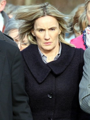 Hazel Stewart arriving at court on Tuesday