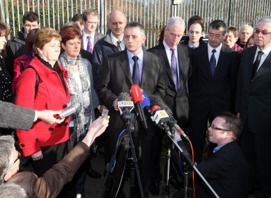 Murdered Trevor Buchanan's family, speak to the media outside court following the conviction