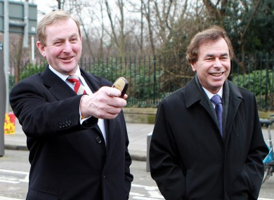 Justice minister Alan Shatter (right) has insisted that Ireland's corporate tax rate is