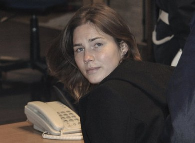 Amanda Knox arriving in court in Italy on 12 March 2011.