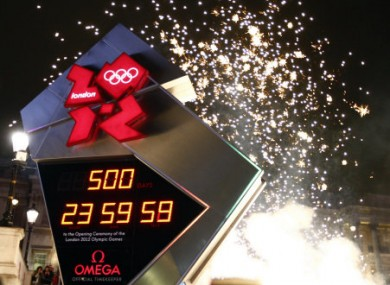 The launch of the Olympic count down clock to mark 500 days to the opening of the London 2012 Olympic Games in Trafalgar Square, London
