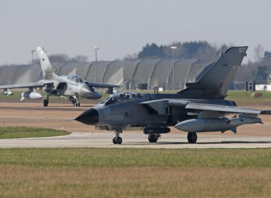 RAF aircraft in Norfolk. Prime Minister David Cameron has ordered RAF planes to deploy to the Mediterranean to help impose a no-fly zone over Libya.
