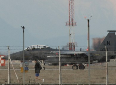 An F-15 fighter jet, similar to the one that crashlanded outside Benghazi according to the Daily Telegraph's report.