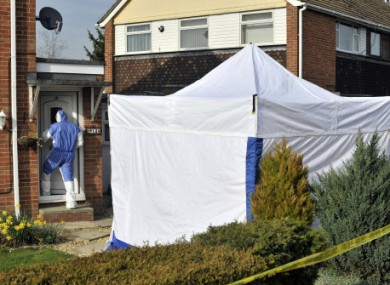 A police forensic tent outside an address at Ashbury Ave, Swindon, following the arrest of man suspected of kidnap and murder.