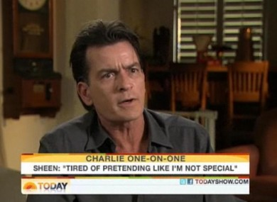 Charlie Sheen gave another interview to NBC