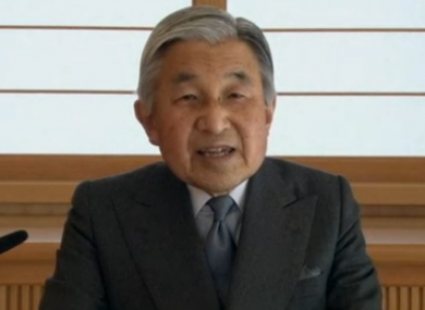 In a rare TV appearance, Japan's Emperor Akihito admitted he was