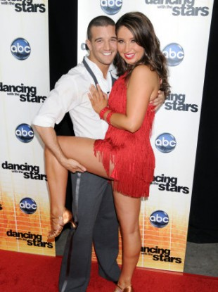 Bristol and dance partner Mark Ballas at Dancing with the Stars