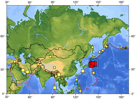 earthquakes today map - photo #30