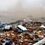 The destruction at Kesennuma port in Miyagi Prefecture, Tohoku area, north Japan. ( The Yomiuri Shimbun via AP Images )