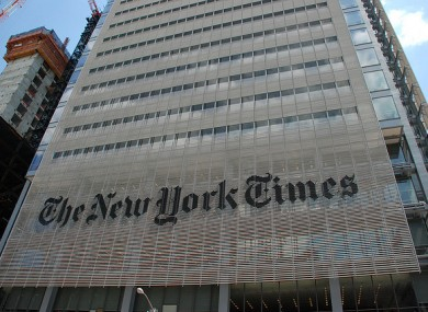 The headquarters of the New York Times