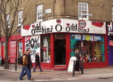 An oddbins store in London.