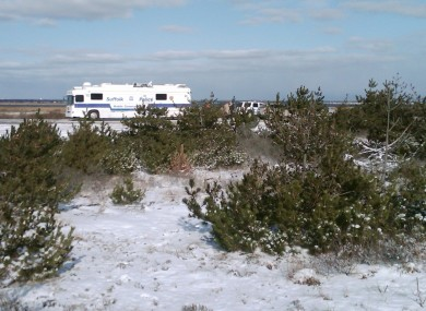 The beachside location where the first four bodies were found in December.