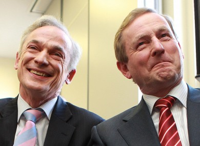 Richard Bruton (L) has been accused of being