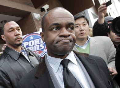 DeMaurice Smith, executive director for the NFL Players Association, speaks to reporters (file photo).