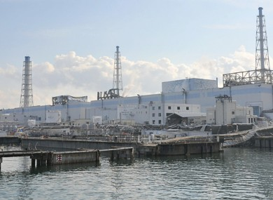 The damaged Fukushima Daiichi Nuclear Power Station