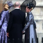 Zara Phillips and Mike Tindall arrive on the red carpet.