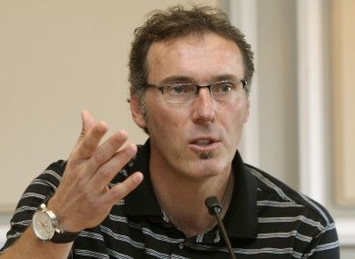 France coach Laurent Blanc denied the allegations at a press conference on Friday.