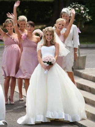 Fit for a princess: Amy Huberman on her own wedding day