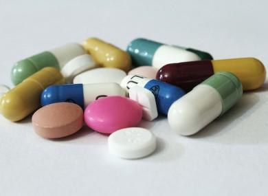 File photo of unidentified medicines.