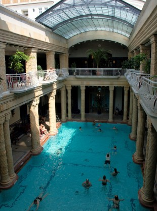 Gellert Thermal Baths in Budapest, where the orgy took place
