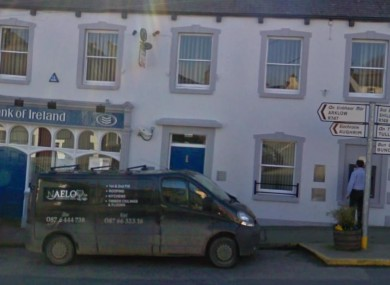The Bank of Ireland in Tinahely, Co Wicklow (File photo)